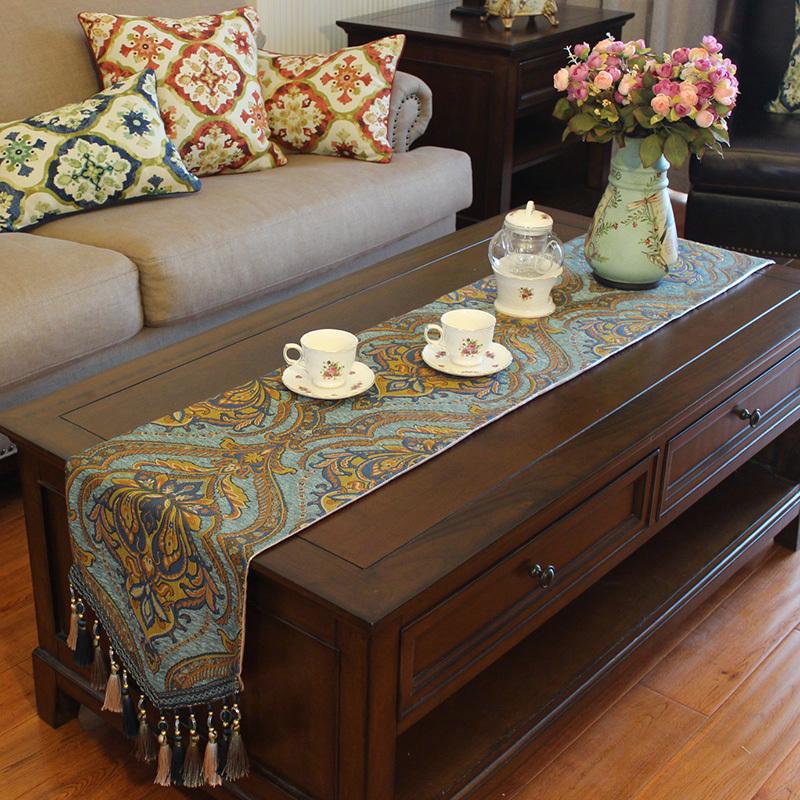 桌旗美式轻奢茶几旗布欧式高档奢华电视柜现代简约北欧定制餐桌布