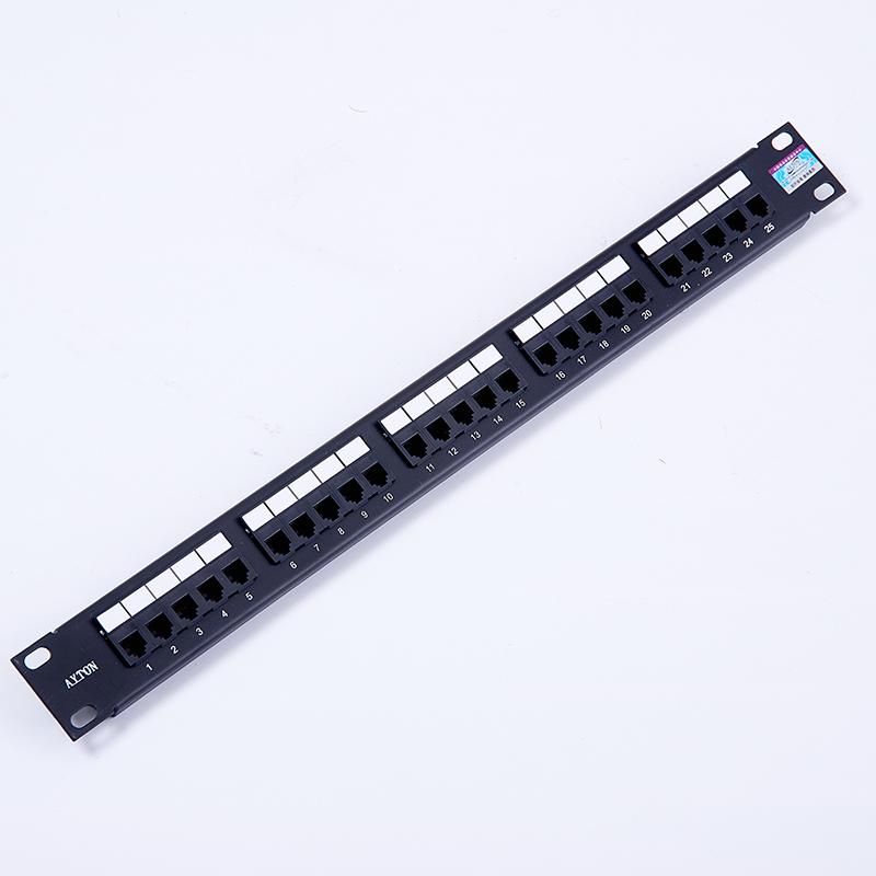 安亿通25口电话配线架 语音跳线架RJ45口配线架25对4芯可拆模块