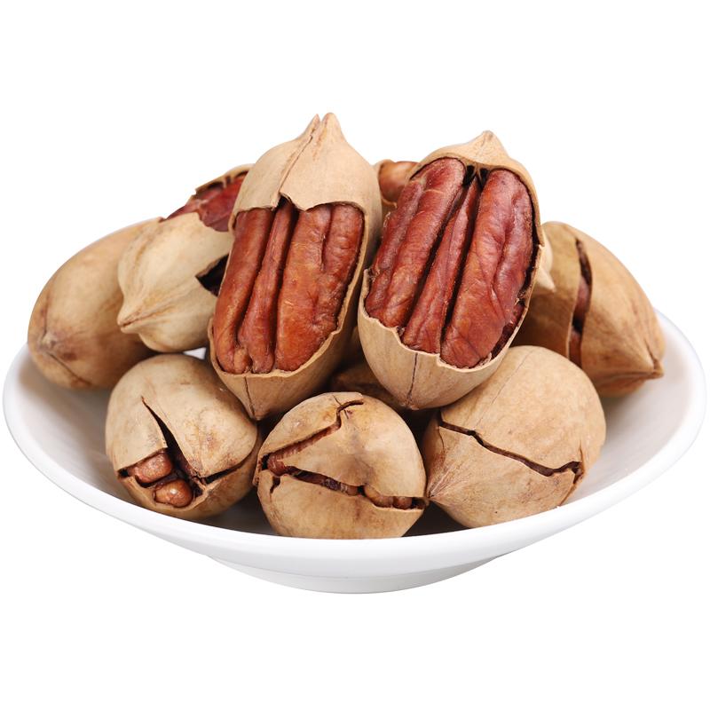 坚果奶油碧根果长寿果 美国山核桃含罐500g