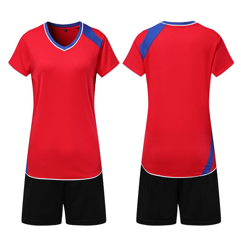 速胜男子排球服套装 男女款排球比赛队服 女子短袖气排球衣可印字