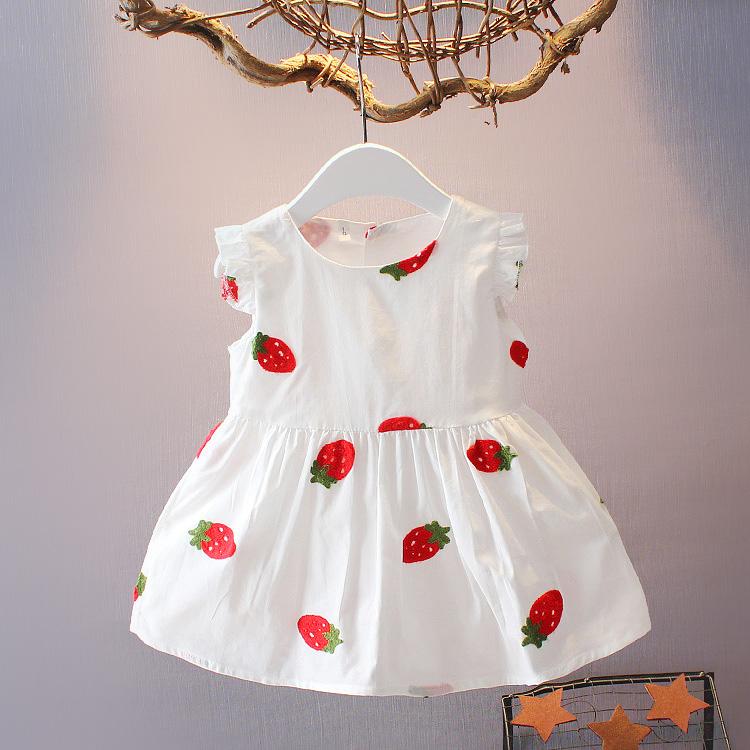 0-1-2-3岁婴儿衣服女宝宝连衣裙无袖夏装百天新生儿韩版棉布裙子