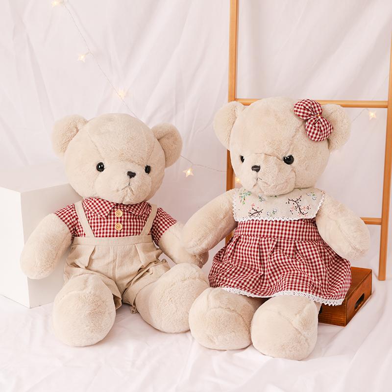 泰迪熊公仔情侣一对结婚礼物毛绒玩具压床布娃娃大号抱枕礼物女孩