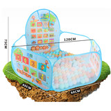 Shooting folding ocean ball pool toy fence baby indoor home game house children's tent color wave ball