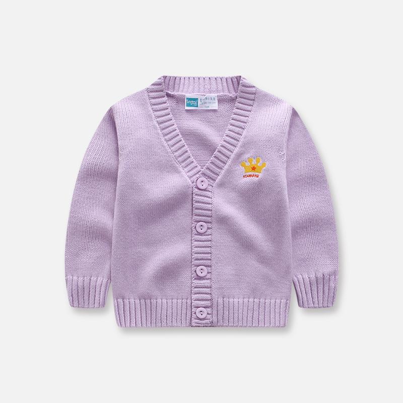 男童毛衣纯棉开衫春季新款儿童毛线上衣宝宝打底针织衫女童外套潮