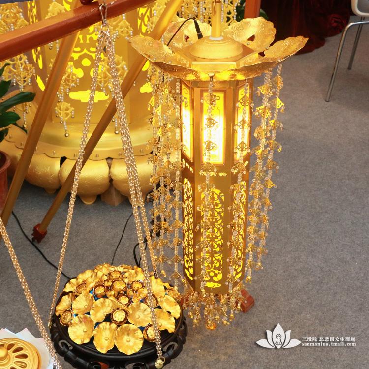 三漫陀寺庙香炉供佛装饰供具供奉香花灯一套寺院莲花灯璎珞灯