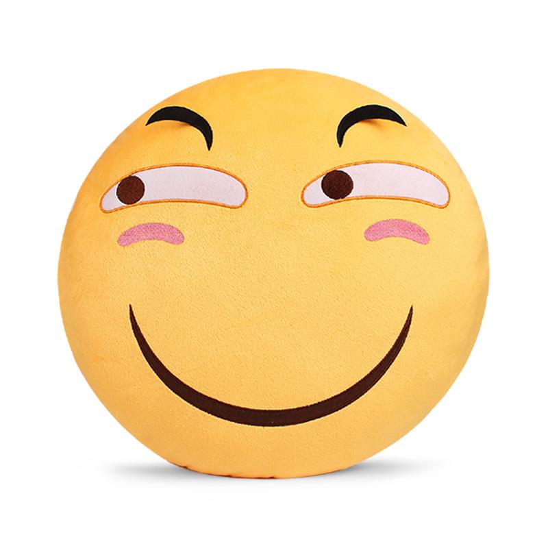 美琦滑稽抱枕表情包笑脸恶搞靠枕二次元毛绒公仔圣诞周边瓜子枕头