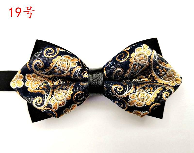 厂家直销尖角领结结婚伴郎团商务领结团体表演双层蝴蝶结礼服时尚