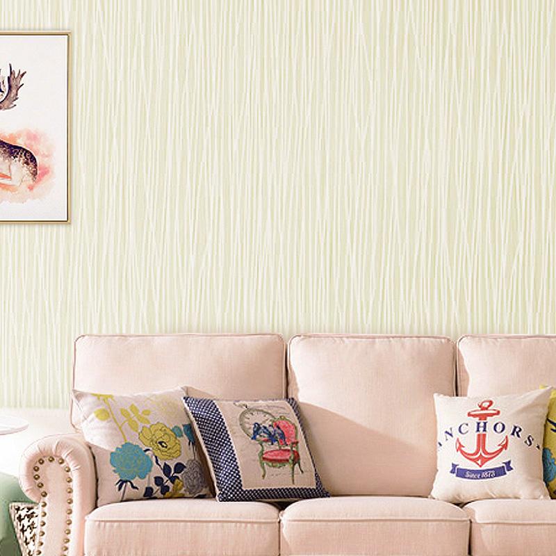 壁纸 3d 素色简约条纹无纺布墙纸卧室客厅书房酒店宾馆家装工程便宜