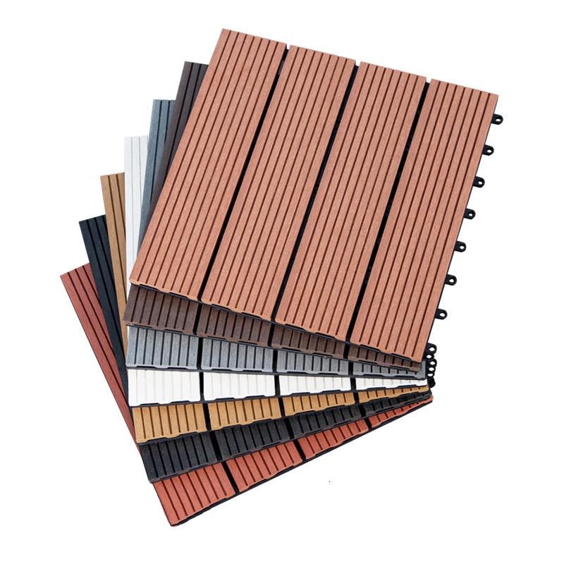浴室阳台室外塑木地板 户外露台花园防滑塑木木塑合成地板 木塑