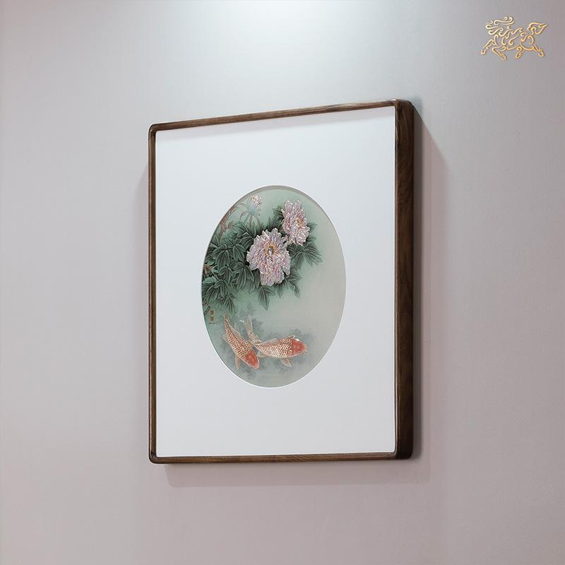 銅師傅 手工鏨刻 銅雕畫《富貴有余》裝飾畫 玄關畫 背景畫 壁畫