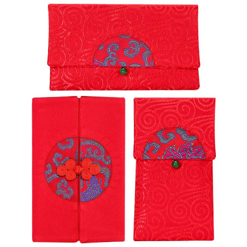 菲寻 婚礼婚庆红包利是封布艺大红包 结婚创意个性改口万元红包袋