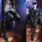 春秋季新款皮裤男韩版修身拼接男裤夜店酒吧潮男小脚紧身裤皮长裤
