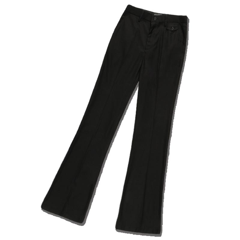 KEVINJONES男士大脚裤青年商务休闲阔腿秋季薄款微喇叭复古西裤潮