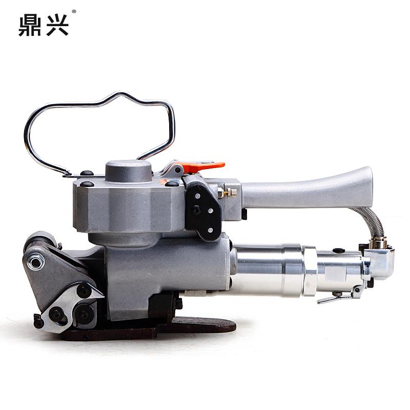 鼎兴全自动A19气动打包机手提式免扣热熔捆扎机塑钢带全自动PET打包机热熔机