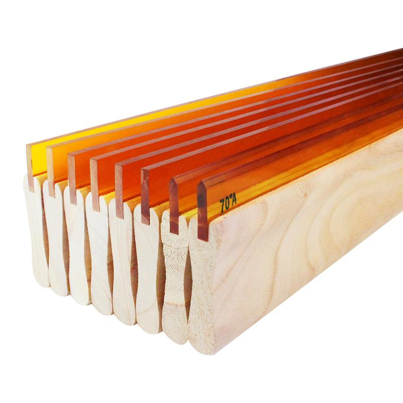 水油性木柄刮胶丝印刮刀胶刮板 耐磨手工丝网印刷刮胶条