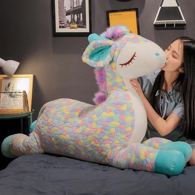 趴趴梅花鹿抱枕公仔毛绒玩具可爱娃娃大号床上睡觉少女心玩偶女孩