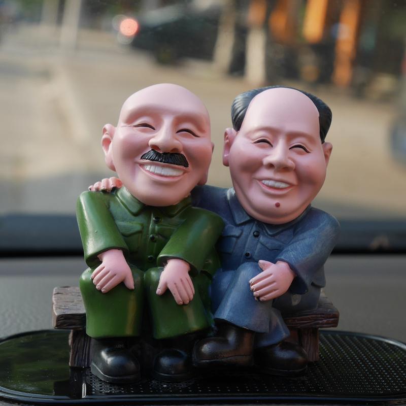 汽车摆件车内饰品创意可爱小玩偶公仔装饰品车载摆设保平安保平安