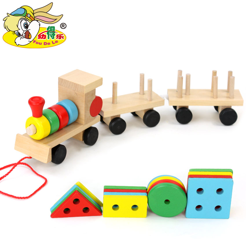 儿童早教益智火车玩具男孩宝宝0-1-2-3岁女婴儿形状配对智力积木