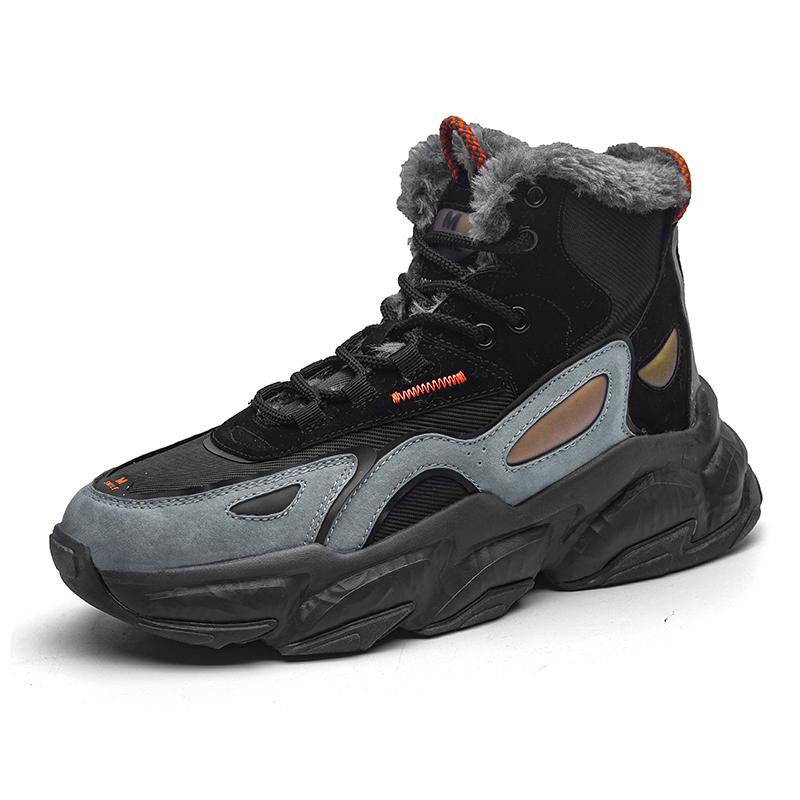 东北雪地靴男皮毛一体加厚防水防滑男士大棉鞋冬季男鞋加绒保暖鞋