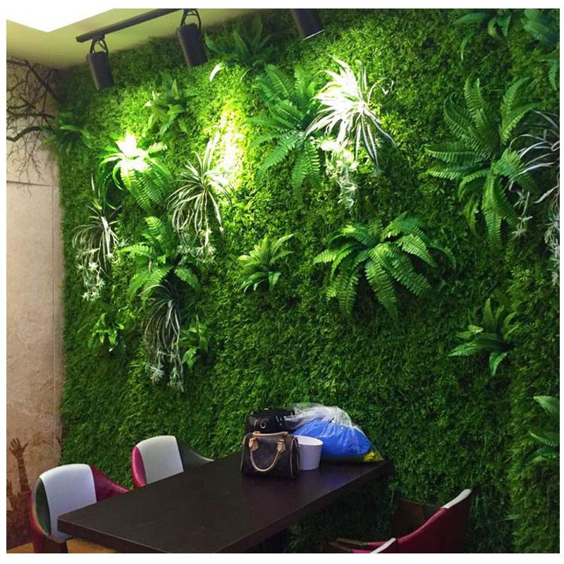 仿真植物墙 绿植墙 背景墙 婚庆花墙 垂直绿化电视墙壁装饰植物
