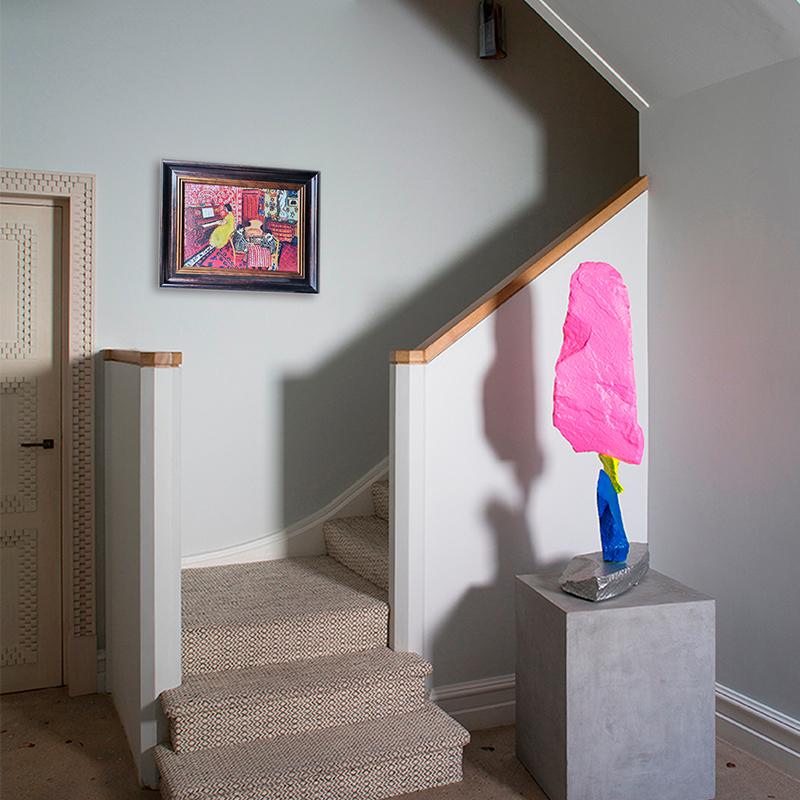 可可的畫廊馬蒂斯鋼琴課油畫北歐輕奢小眾復古客廳裝飾畫鋼琴擺臺