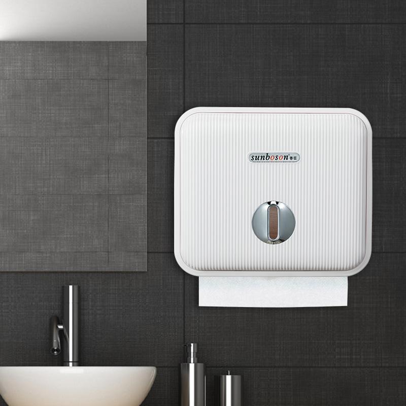 酒店擦手紙盒衛生間抽紙盒創意廁所免打孔洗手間防水壁掛式紙巾盒