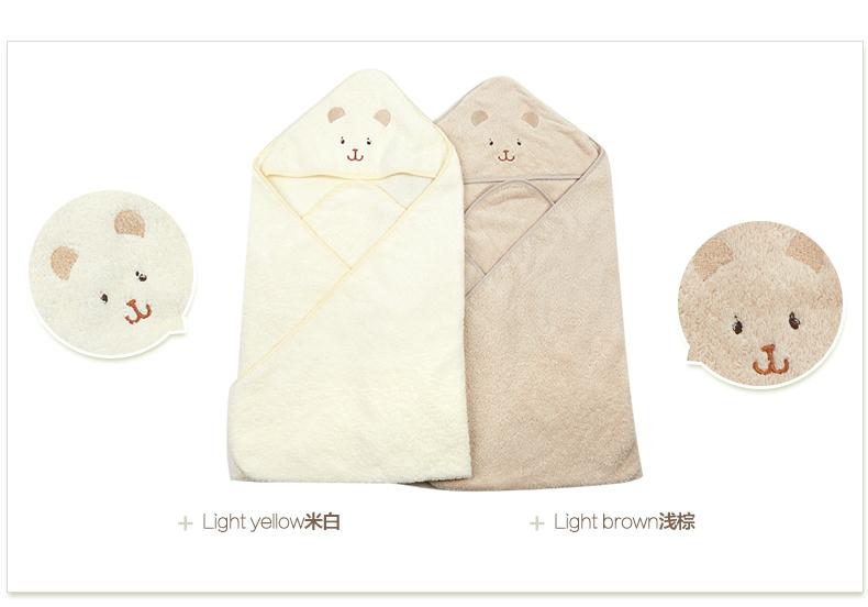 新生儿薄款抱被有机棉质抱毯抱被春婴儿两用包巾夏季A类小熊刺绣