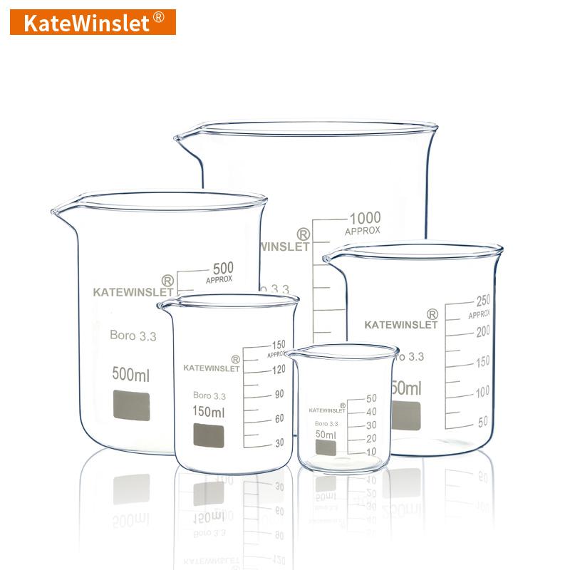玻璃烧杯 量杯 耐高温烧杯包邮 50ml100ml250ml500ml化学实验器材