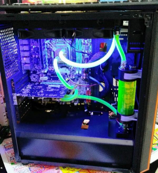 电脑水冷套装水冷散热器CPU显卡北桥纯铜水冷头双U服务器水冷套装