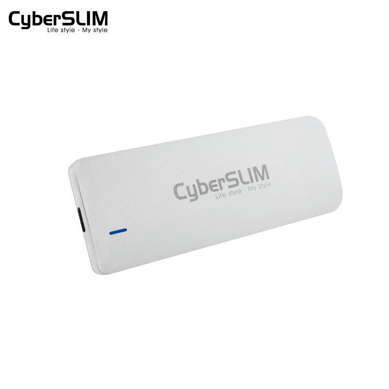 CyberSLIM M2外接移动SSD固态硬盘盒子M.2 NGFF转USB3.1 Type-C外置2242/2260/2280高速Gen2雷电3铝合金壳3.0