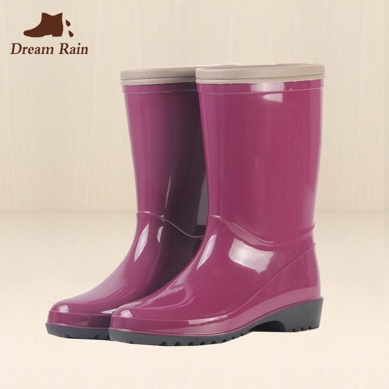 春夏女士成人時尚中筒雨鞋韓國女耐磨防滑雨靴四季水鞋膠鞋女套鞋