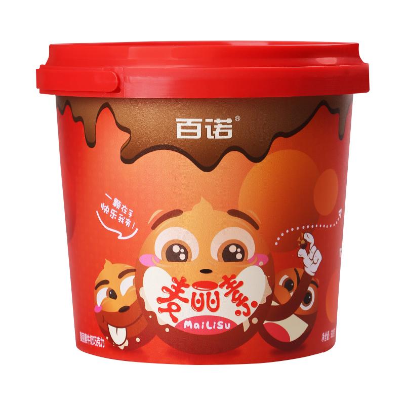 不含代可可脂、无反式脂肪:520g 百诺 纯可可脂麦丽素
