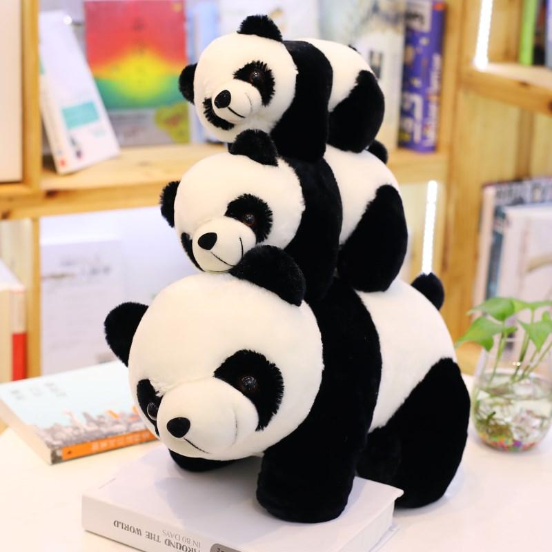 黑白熊猫公仔毛绒玩具国宝大熊猫趴趴熊抱枕玩偶娃娃抱抱熊女男孩