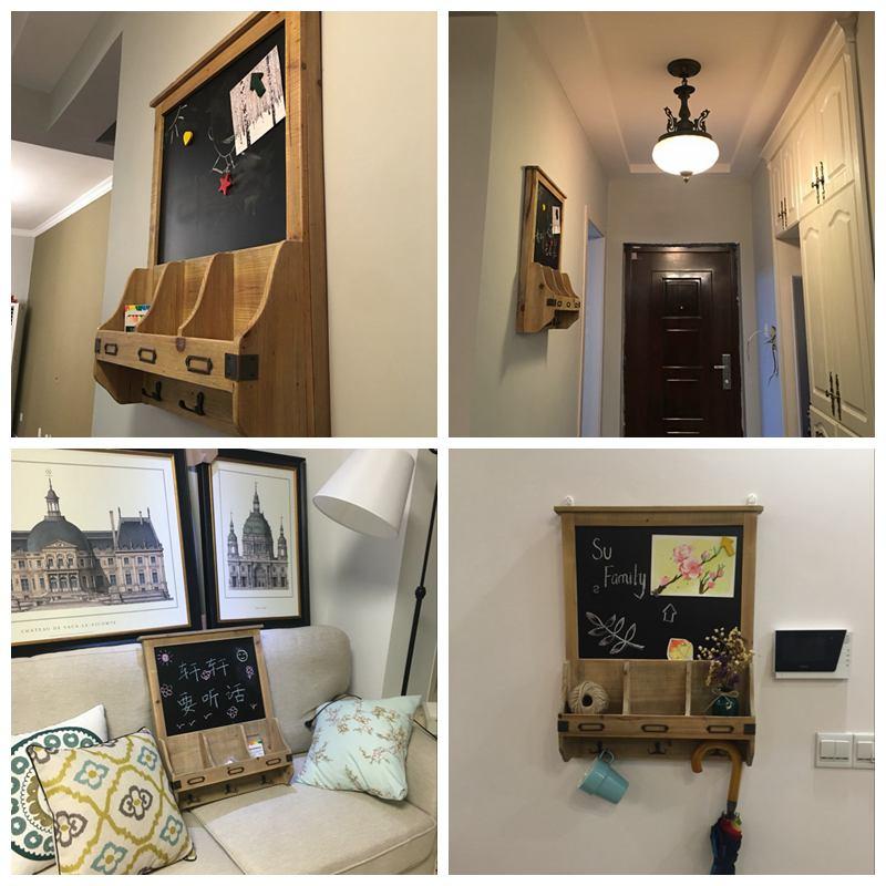 創意玄關壁掛置物架實木黑板電錶箱遮擋箱裝飾留言板餐廳牆面裝飾