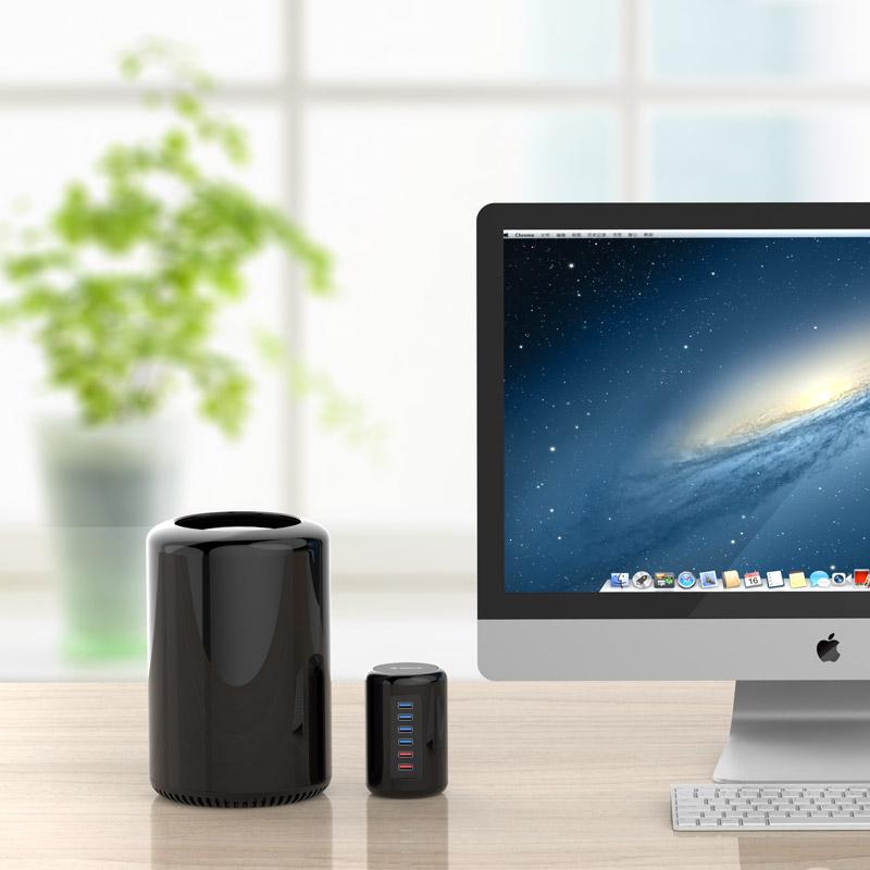 ORICO/奥睿科 桌面Mac Pro电脑扩展usb3.0 HUB分线器 多功能读卡器扩展集线器带电源手机平板充电器HUB带充电