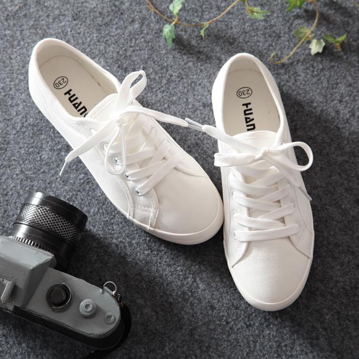 环球小白鞋百搭夏季女鞋学生帆布潮鞋女韩版2019秋季新款平底布鞋
