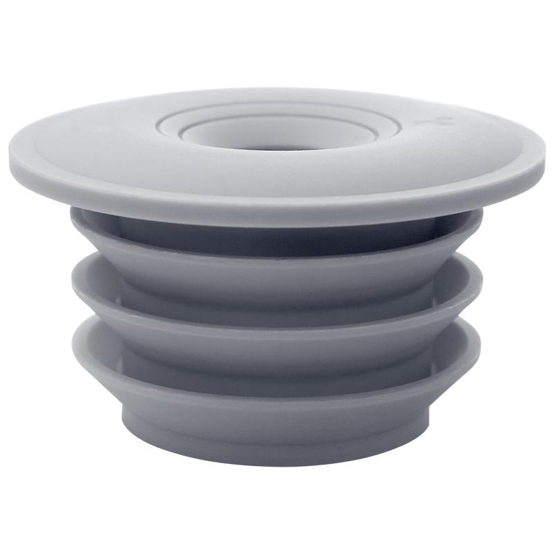 下水管防臭密封圈防臭盖黎胶洗衣机排水管通用厨房下水道防臭地漏