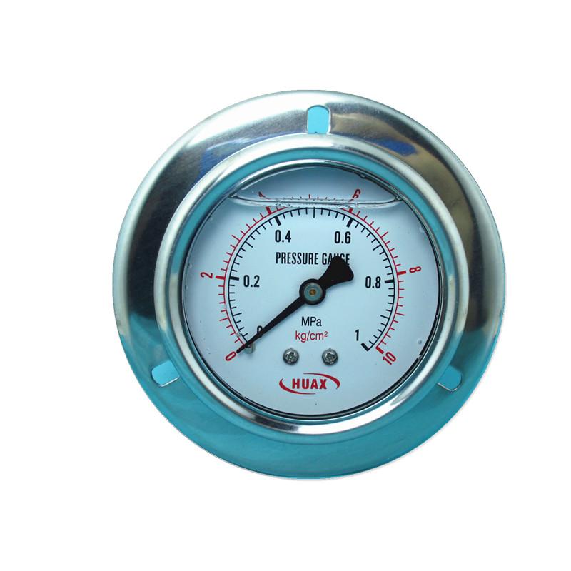 压力表轴向yn60ZT 充油带边耐震油压气压水压 注塑1mpa/25mpa
