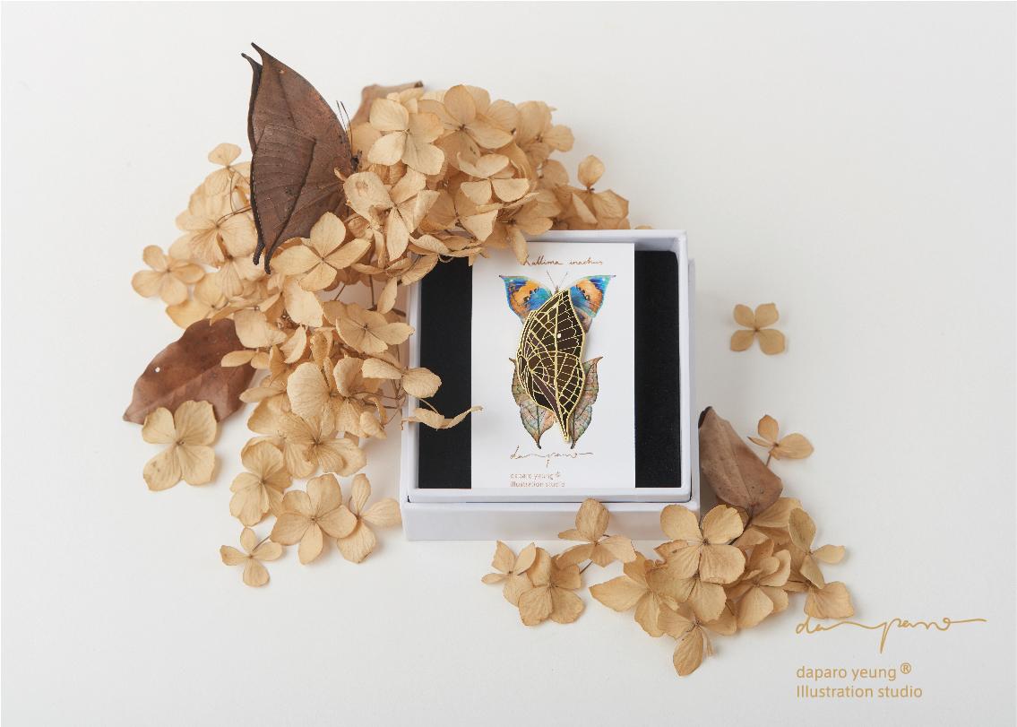 设计师原创胸针徽章礼物 荒野密林  daparo 枯叶蝶