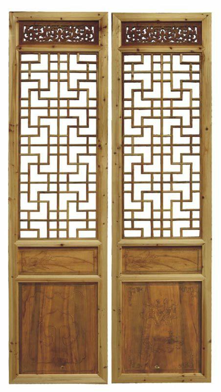 东阳木雕室内门折叠门仿古门窗玄关实木门雕花门花格门木门卧室门