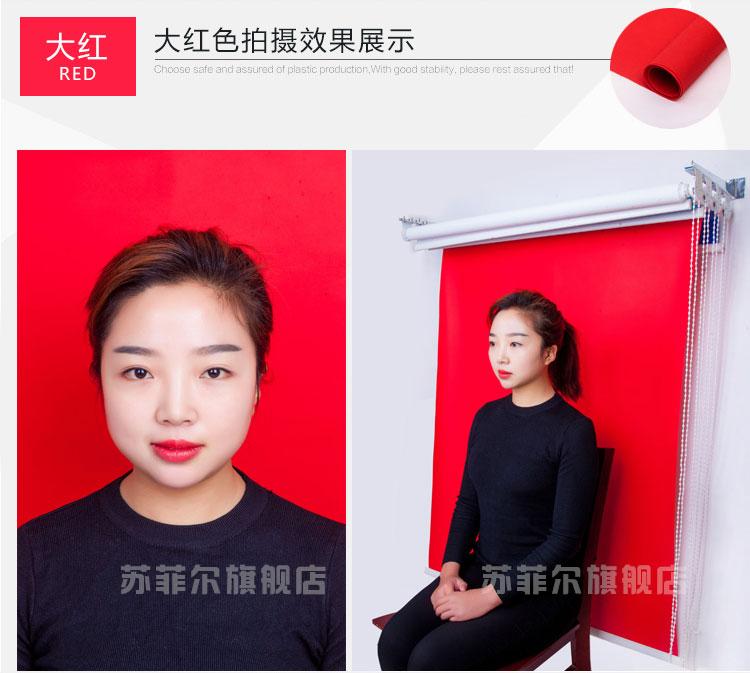 三轴四轴手动背景架证件照相背景布卷帘式拍照快照寸照护照背景布