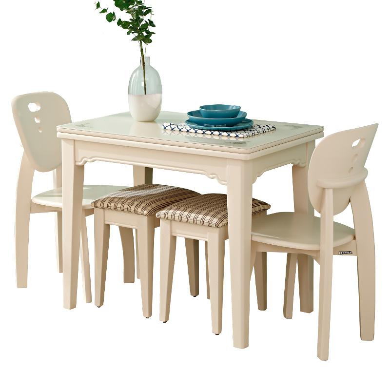 抖音同款旋转变大餐桌多功能可折叠伸缩餐桌椅组合小户型变形饭桌