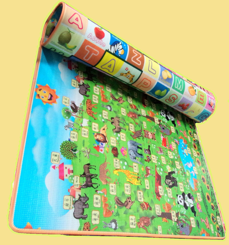 婴儿童宝宝爬行垫环保双面加厚2cm3cm泡沫地垫防潮爬爬垫家用定做