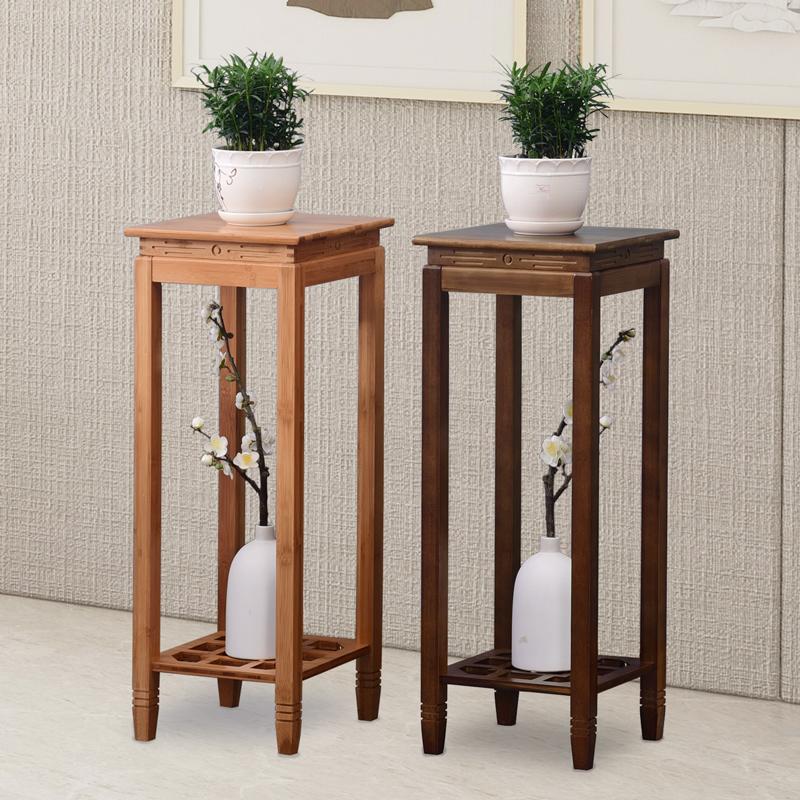 中式花架置物架竹花盆架客厅绿萝花架子室内落地花台复古花几单个