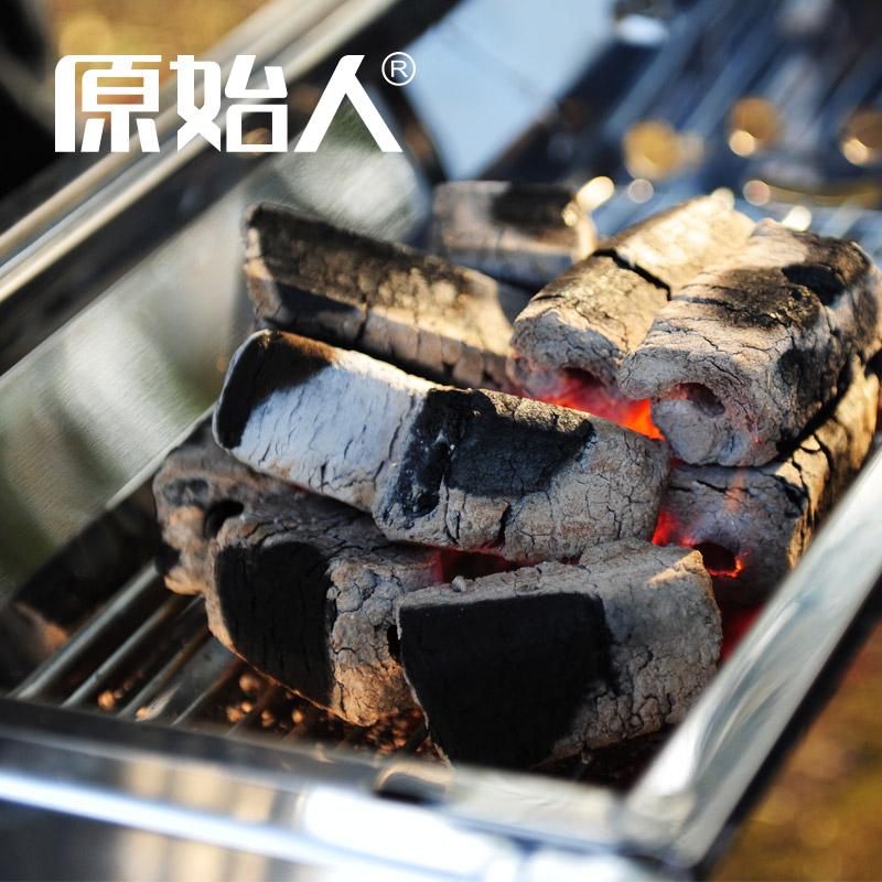 原始人烧烤碳木炭户外烧烤木炭果木炭木碳烧烤机制碳