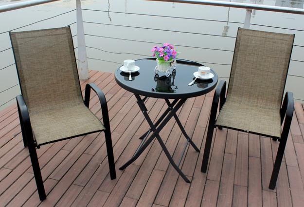 户外家具套装铁艺台子椅子庭院堆高椅特斯林组合人气户外桌椅套装