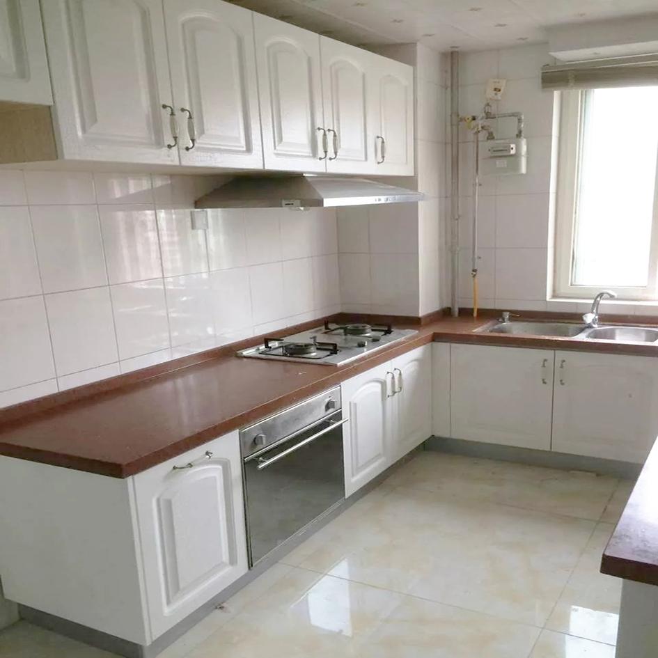 整体橱柜定做模压吸塑门板整体橱柜定制欧式厨房橱柜多层实木厨房