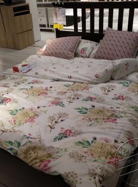 宜家国内代购汉尼si床架实木床架欧式简约双人床单人床儿童床北欧