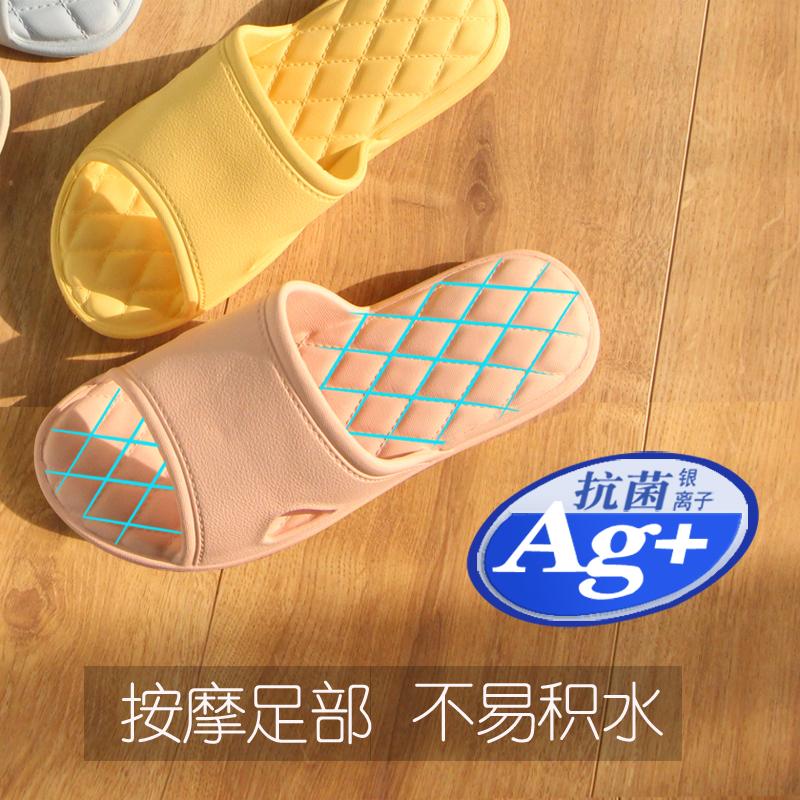 日式浴室拖鞋女夏男情侣室内防滑软底洗澡厚底凉拖鞋家居家用静音