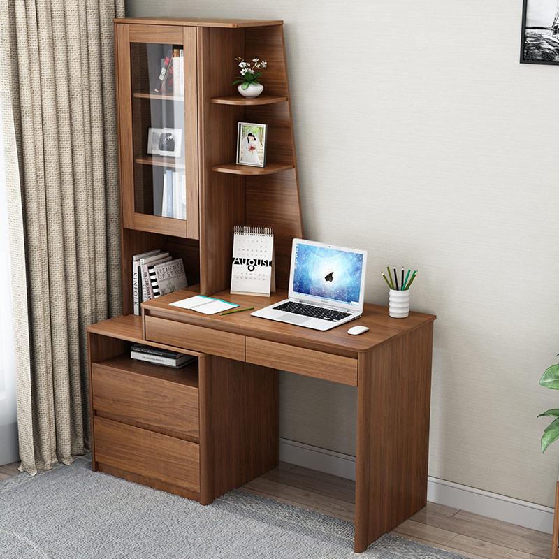型飘窗双人可伸缩电脑桌写字台